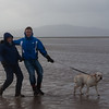Christmas Eve walk at Powfoot beach in extremely strong wind.