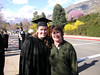 Mama and her graduate outside Marriott Center (April 2008)