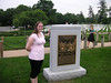 Cindy at the Columbia (STS-107) Memorial at Arlington National Cemetery.