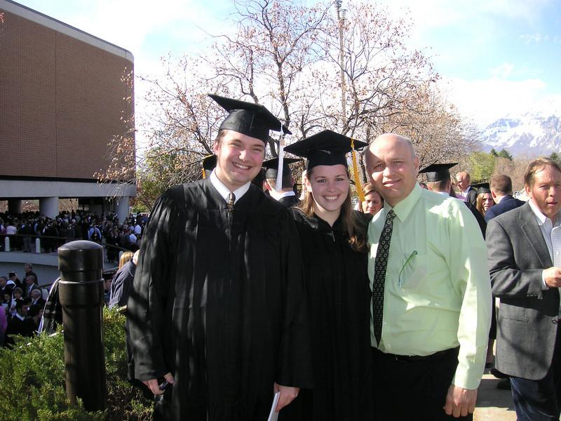The graduates w/ Bob (April 2008)