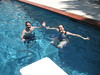 Chris and Cindy Jewkes in our pool (Summer 2010).