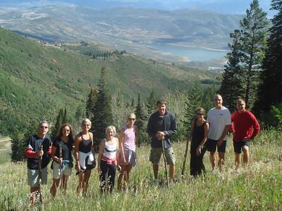 Hiking up to the top of Bald Mountain From Left: Mark K, Nancy, Laura, Renee, Kelly, Scott, Kristi, Mark, Doug