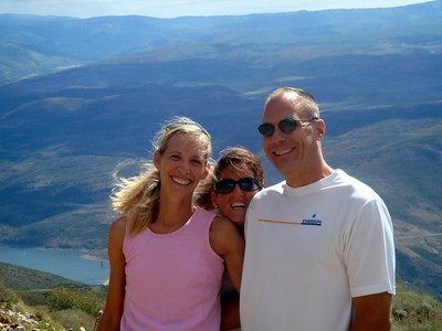 Kelly, Cindy & Mark on top of Bald Mountain