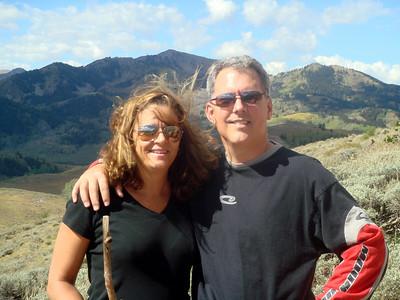 Nancy & Mark on top of Bald Mountain