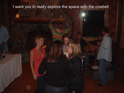 Mike really explores the space with his cow bell.