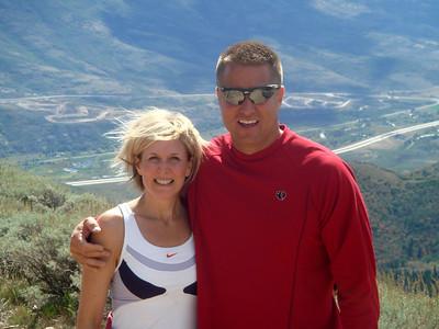 Renee and Doug reaching the summit.