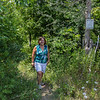 Martha  and Rosemary finishing up a walk on the Bruce Trail in what was probably the hottest day of the year!