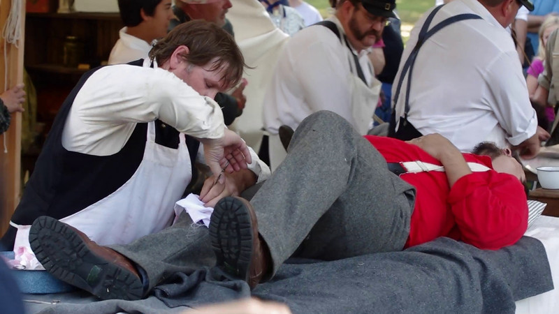 Video Civil War Hospital Reenactment