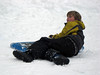 Back for snow play featuring sledding