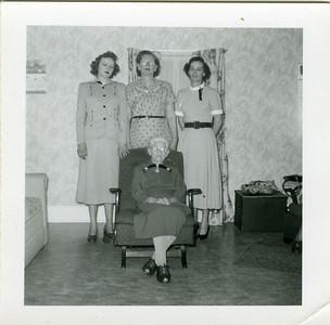 Four Generations: Gertrude, Eva, Amelia and Josephine Mapes