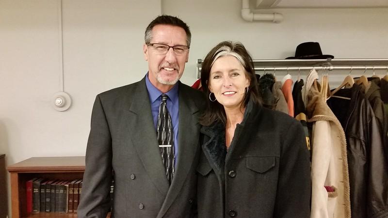 Wayne Clark and Christine Horne