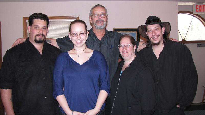 Eli, Ahri, Darrel, Tammy and Darrel Clark