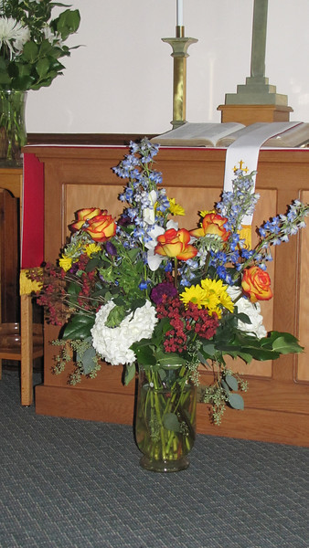 Flowers from nieces Rose Morse and Debbie Mann