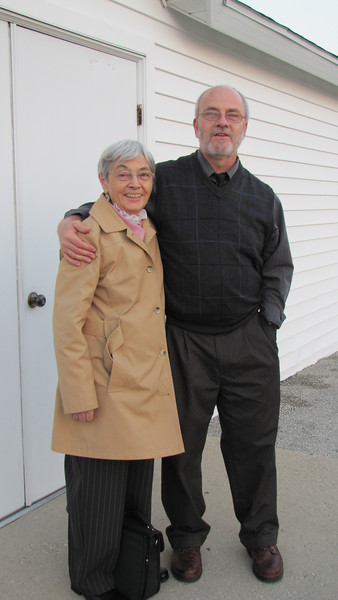 Myrtle Clark and son--in-law Danny Giombi