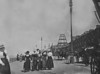 Ladies day at Blackpool with the partly built tower in the background between 1897 and 1898