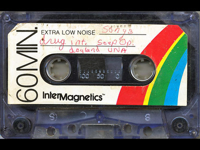 "Tape 6, Side 2: Drug Interview, ""The Old and the Restful"", Dad swears, Inventor's Club meeting, Dogland UNA, and Jeremy's acapella solo.  Included on this side, but not in this clip, are the following songs:   1. Cars, Gary Numan, 1979   2. Running on Empty, Jackson Browne, 1977"