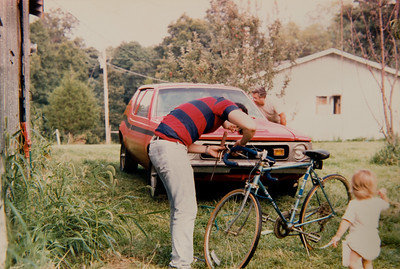 I think I gave my bike a bath that day too. That's Mary helping in the foreground.