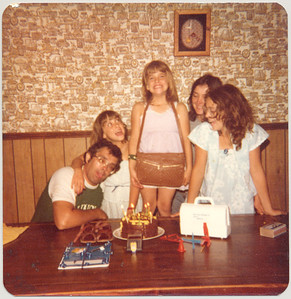 Rebeccah's 8th birthday, August 11, 1981.
