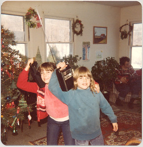Christmas, 1981. I think that's my tape recorder Germaine is playing with. Pity it's not recording.