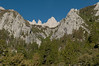 Mt. Whitney as seen from Whitney Portal (the trail head for the hike) on the morning we leave
