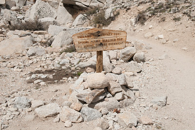 A 10 mile area around Whitney is strictly controlled by permit (even for day hikers)