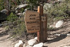 A short way into the hike, we enter the John Muir Wilderness Area