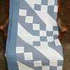 blue quilt (made by Mom?)