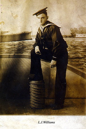 WWI USN photo of L.J. Williams Thought to be family relation of Gladys Smith, my grandmother on mom's side.