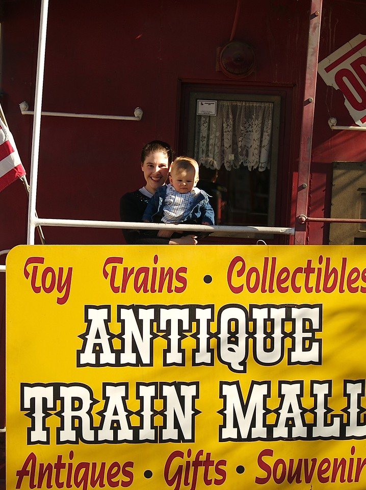 Katie and Cody by the train in Fillmore. 1/14