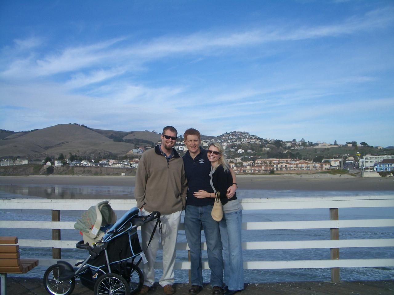 Tony, Cody and our friends Stefanie and Joel in Santa Barbara. 1/2/07