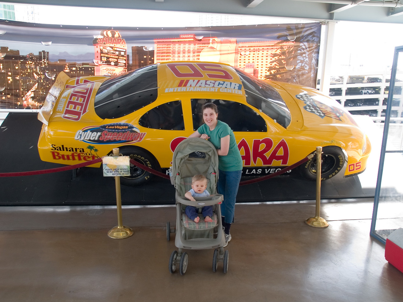 Katie and Cody by the Nascar by the Sahara hotel. 3/10
