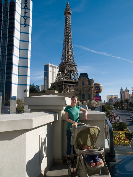 Mommy and Cody by Paris Las Vegas. 3/10 Cody is sleeping!