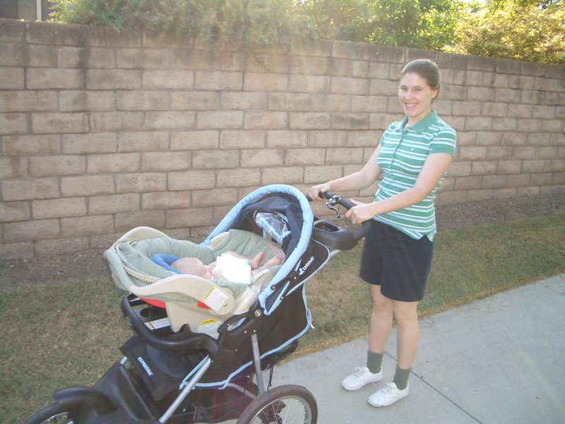 7/18 Mommy and Cody on a walk