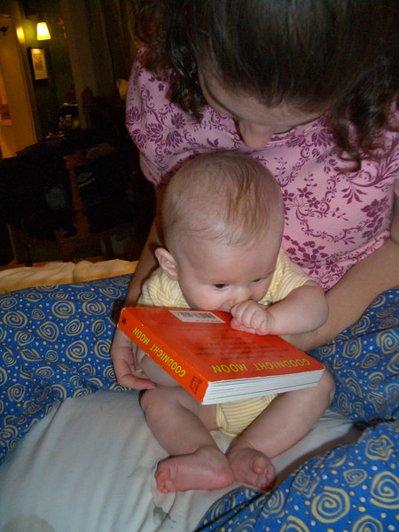 Cody eating his book