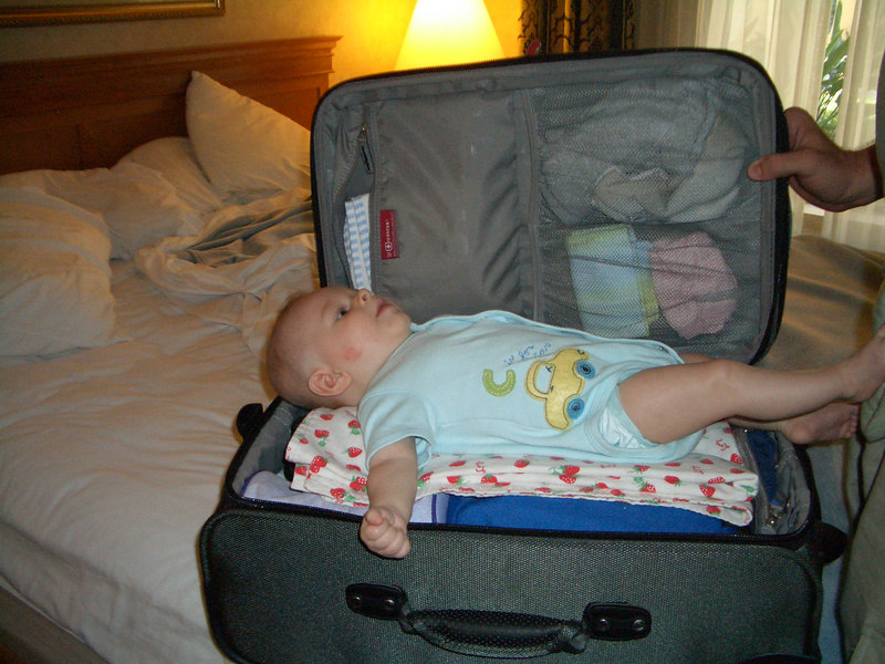 8/6 Daddy decided to pack Cody