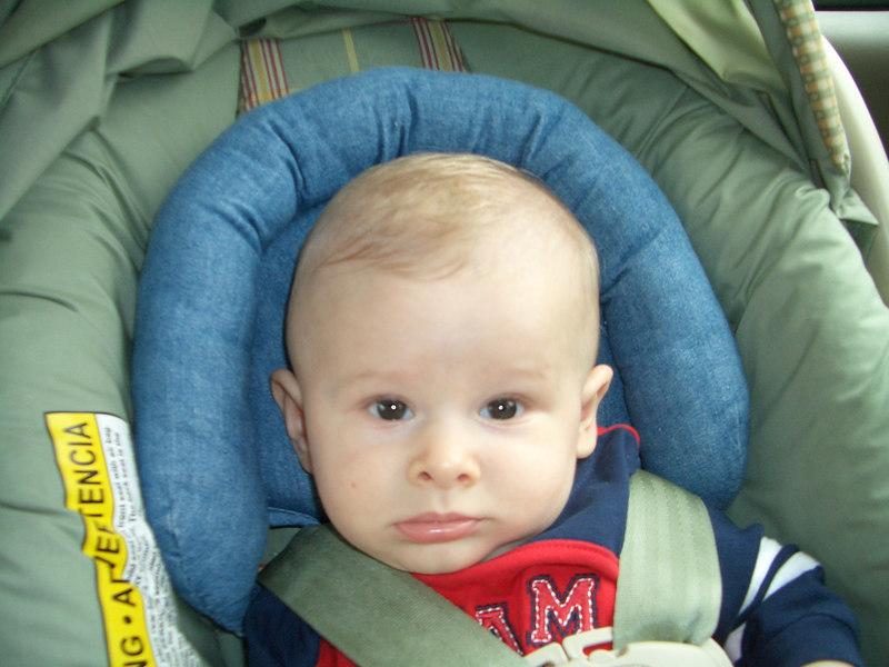 8/18 Cody in car seat