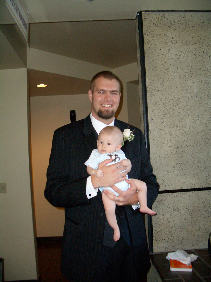 Daddy was in a wedding and Cody enjoys looking around 8/5