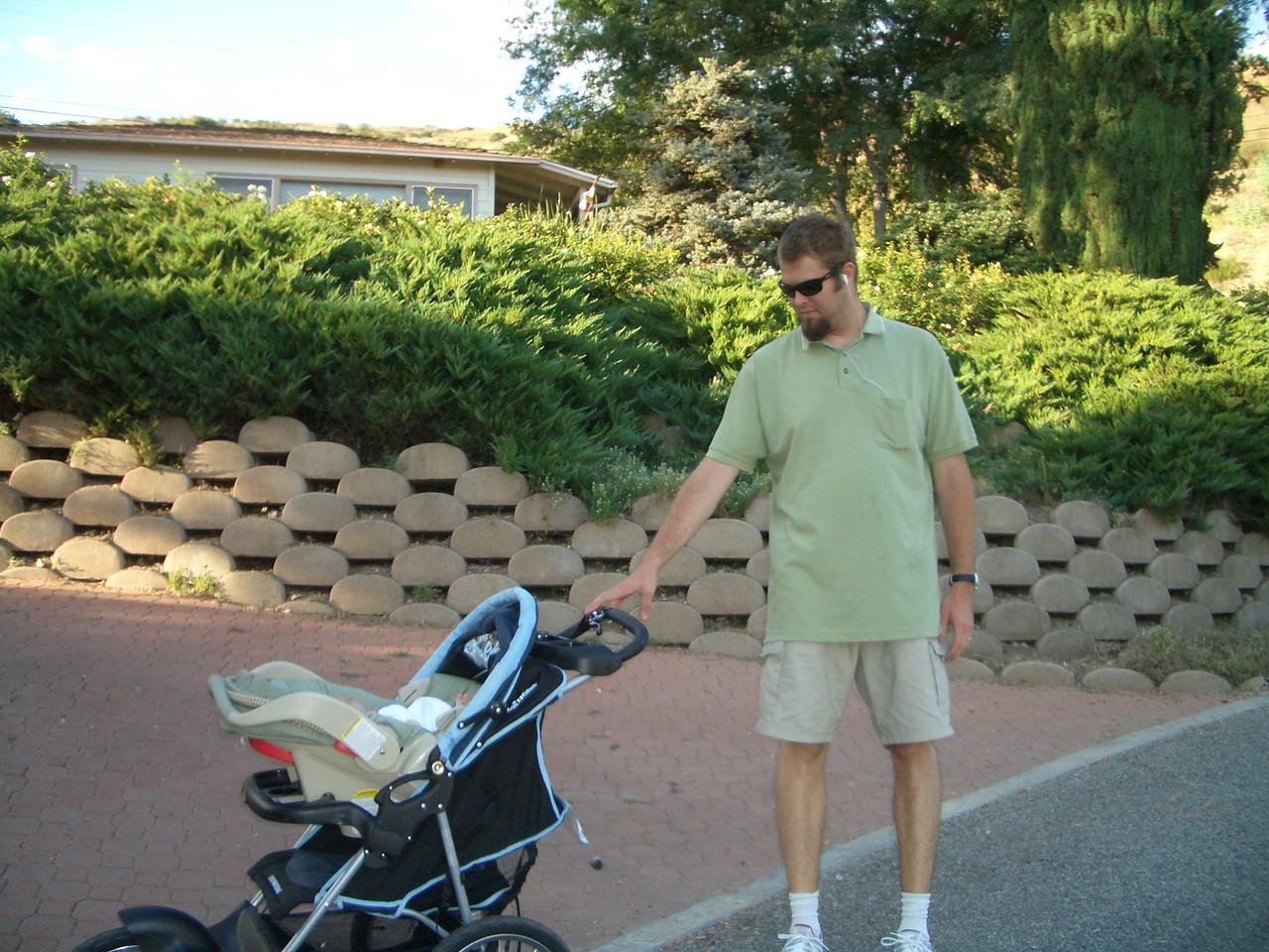 7/18 Daddy and Cody on a walk