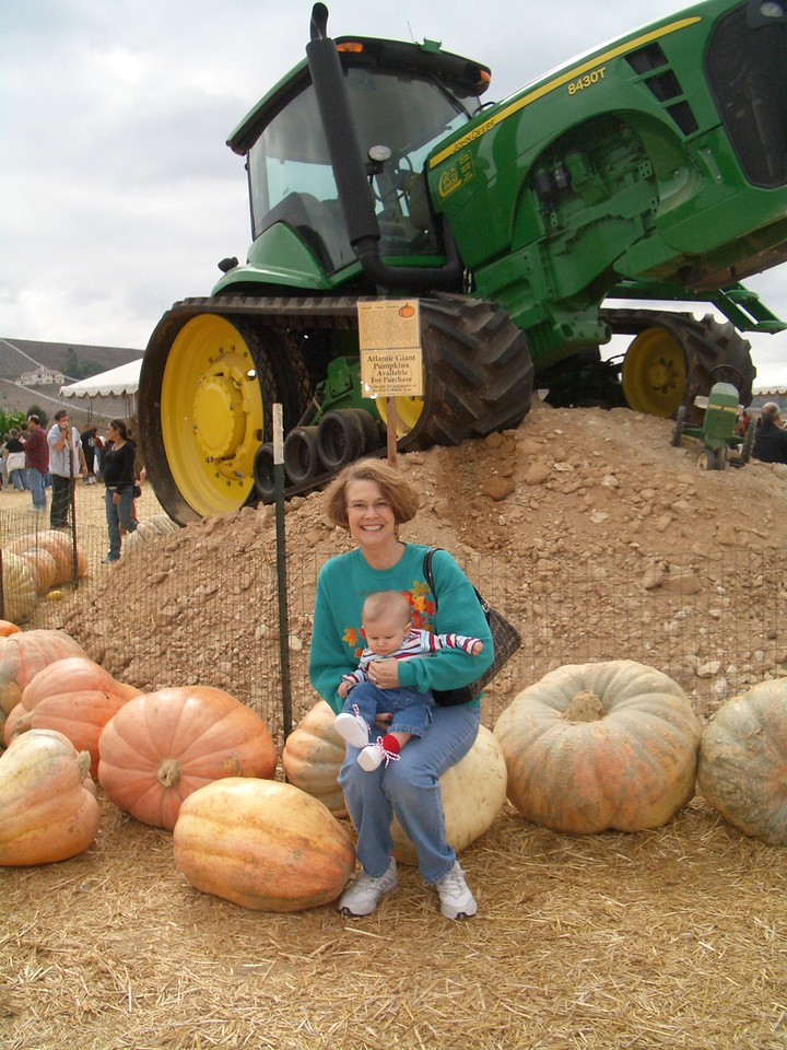 Grandma Jan and Cody at the pumpkin patch. <br /> 10/ 15