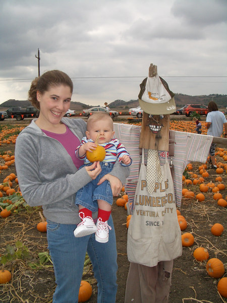 The scarecrow, the pumpkin and us.