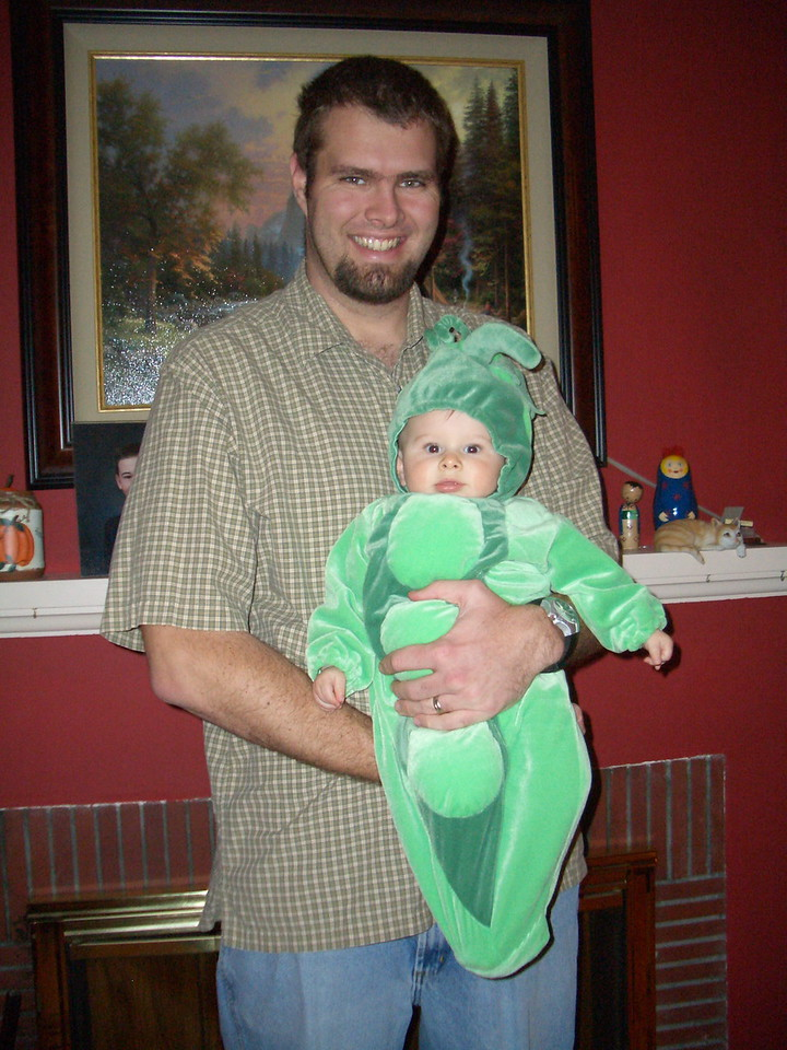 Daddy and his little pea.
