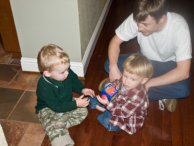 Rustin, Cody and uncle Ryan play together.