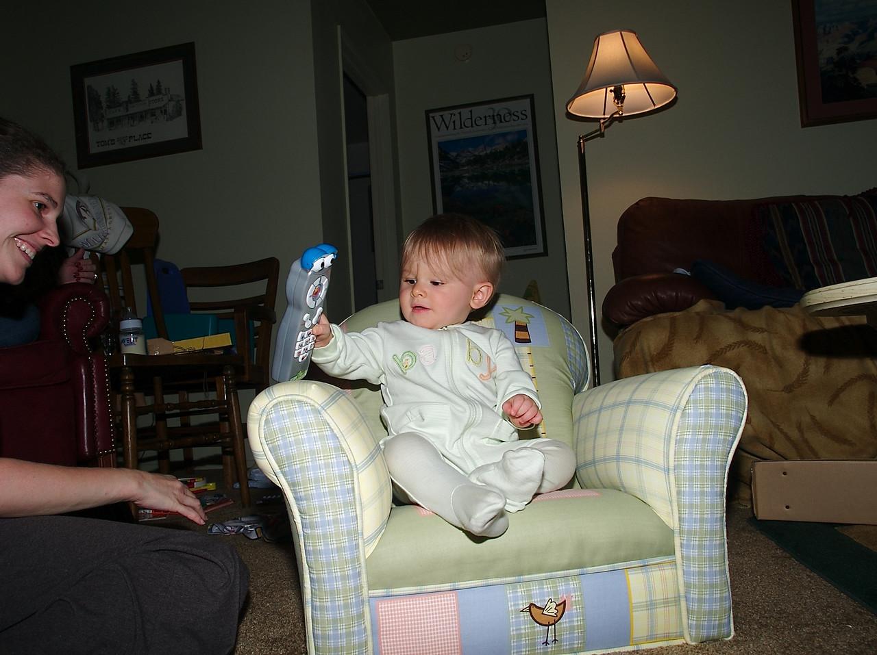 In my big boy chair.