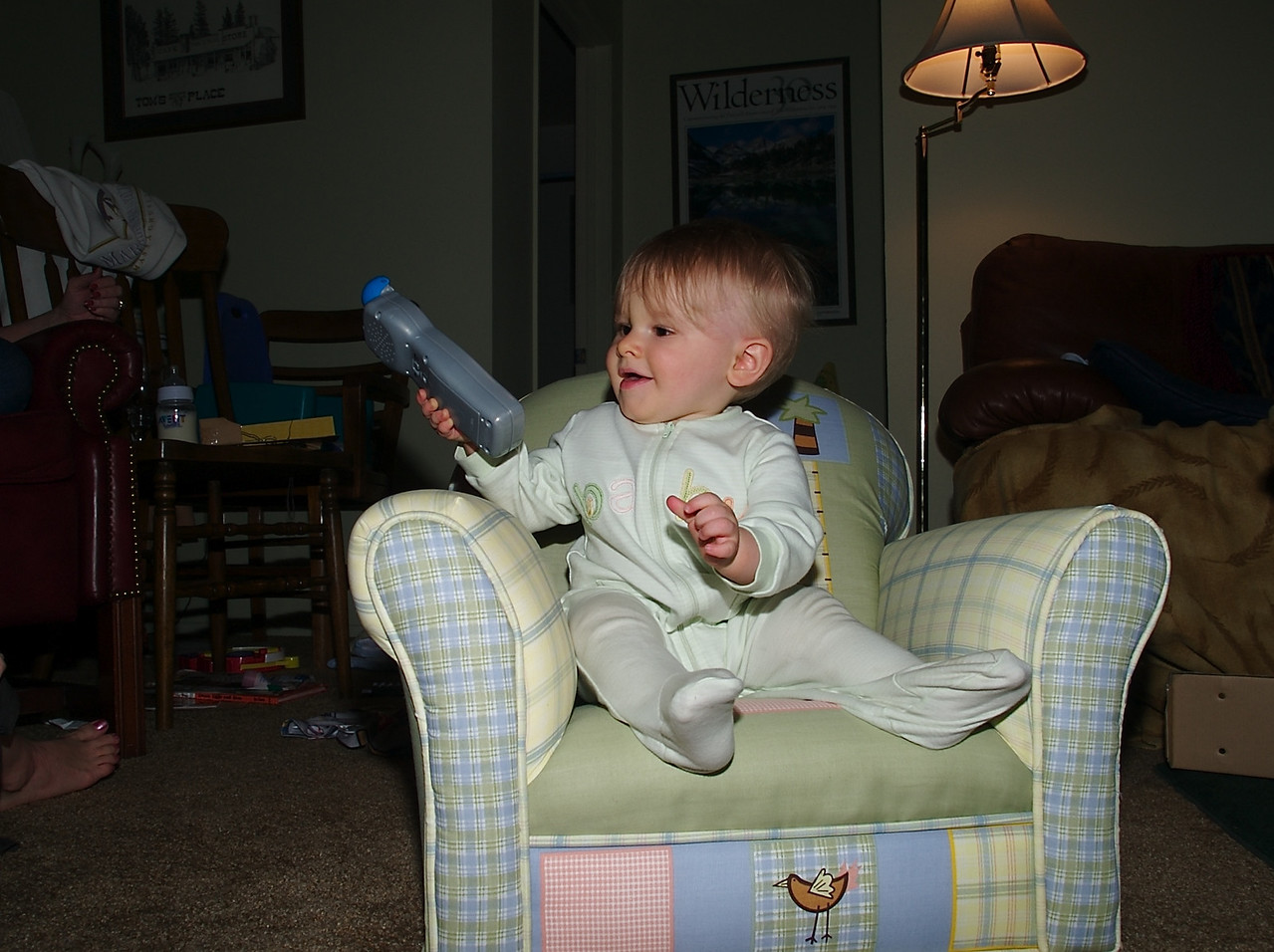 Here I am with my remote
