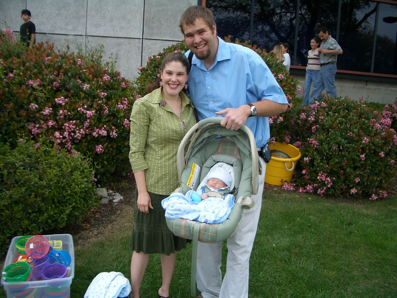 Cody's first church service (Easter Sunday) about 2 wks 4/16/06