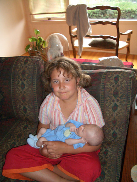 Cousin Riley with Cody 5/6/06