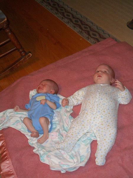 Cody and cousin Rustin (Rustin was born in Feburary Cody in April)