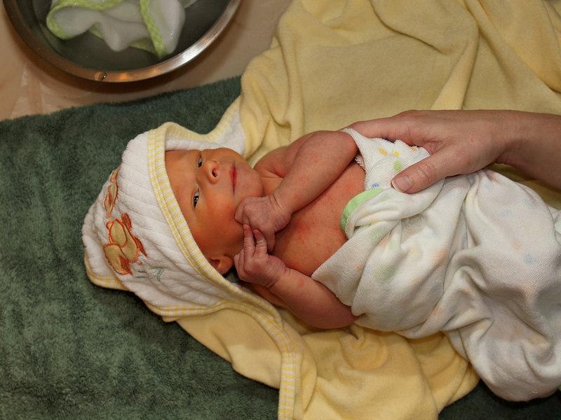 I am in my cute little duck towel