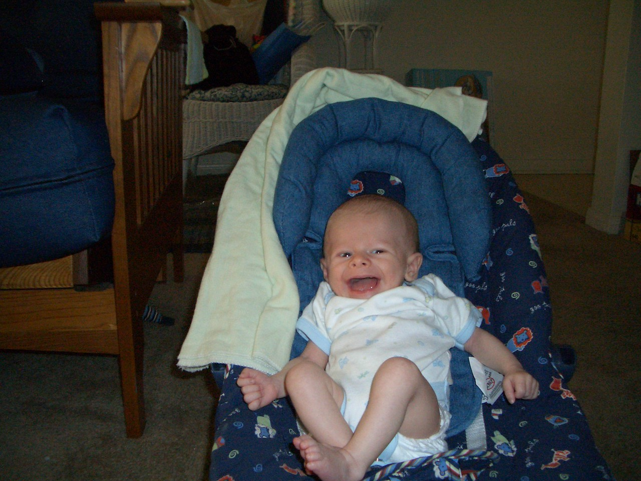 Cody in his chair (mother's day picture)
