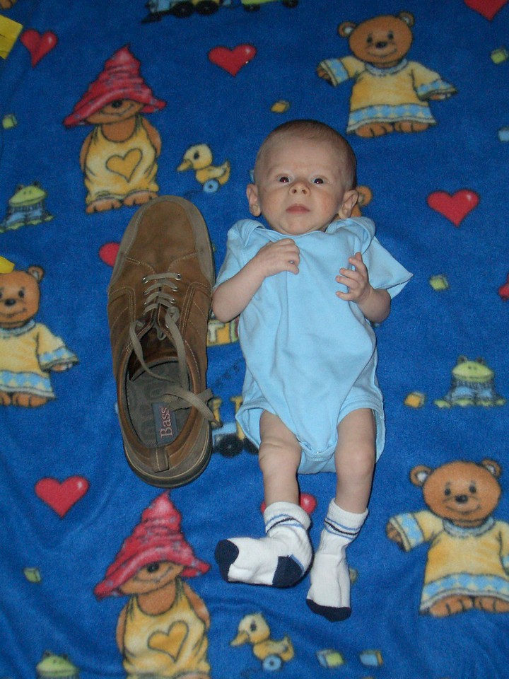 Cody and one of daddy's shoes